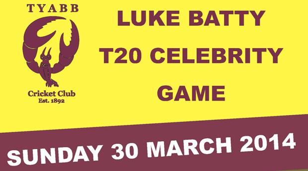 Luke Batty T20 Celebrity Game this Sunday
