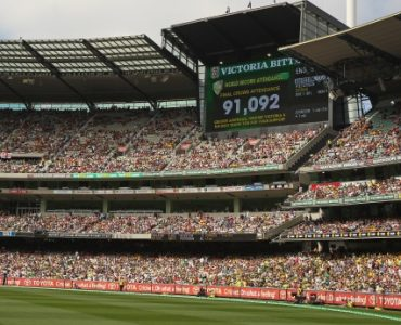 World record crowd on Boxing Day