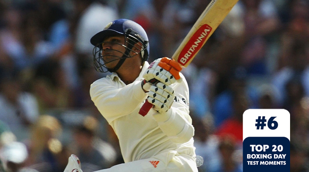 Boxing Day Test Memorable Moments #6 鈥 Sehwag blazes 195