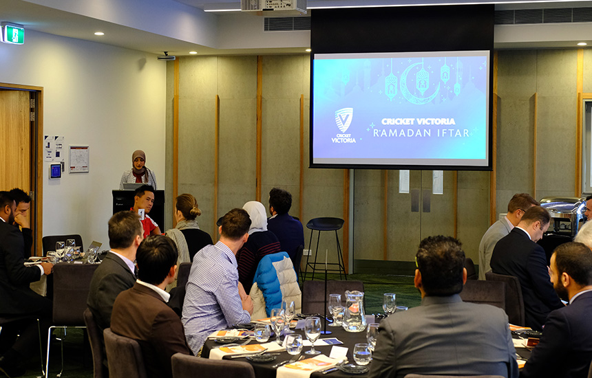 Cricket Victoria celebrates inaugural Iftar dinner