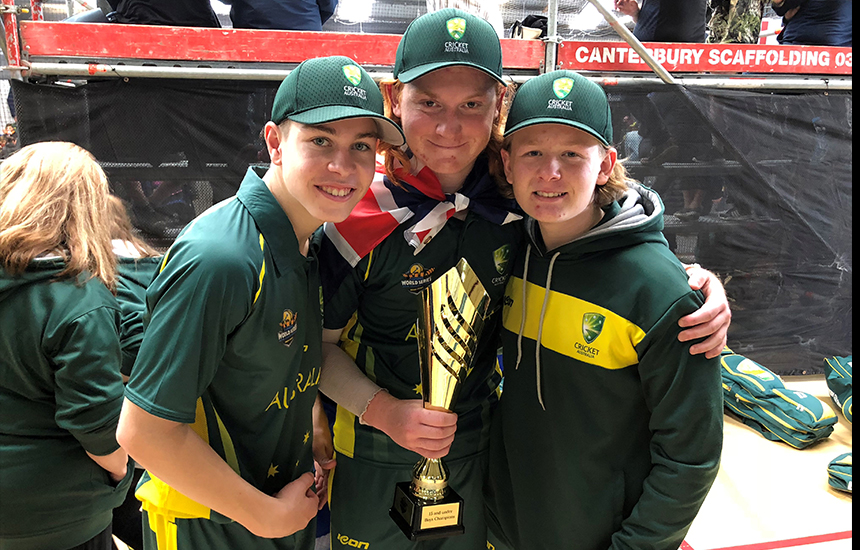 Cricket Southern Bayside trio represent Australia