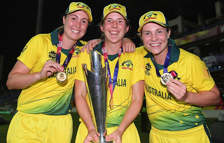 Victorian cricket celebrates Australia's ICC WT20 victory