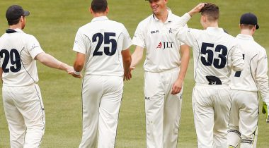 Victoria holds top spot at Sheffield Shield break