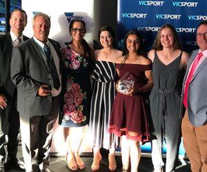 U14 Indoor Girls win VicSport Junior Team of the Year