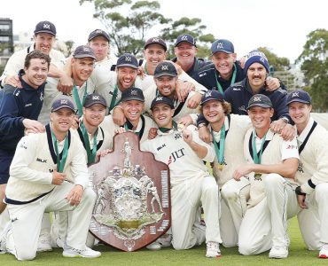 Victorian cricket celebrates historic treble
