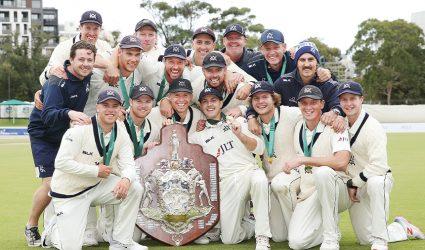 Victorian cricket celebrates historic treble