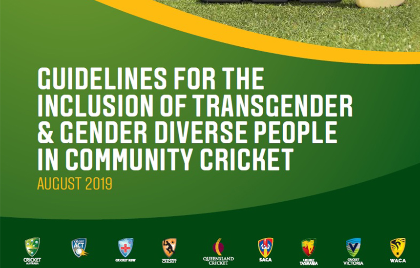 Cricket Australia takes action to include transgender and gender diverse people