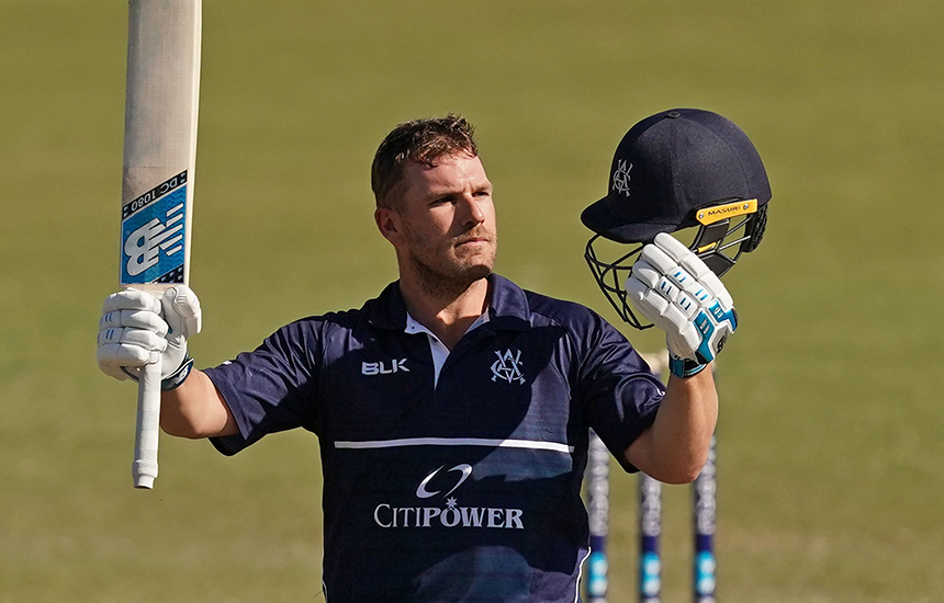 Finch hits Victoria's highest ever domestic-one day score in win over Queensland