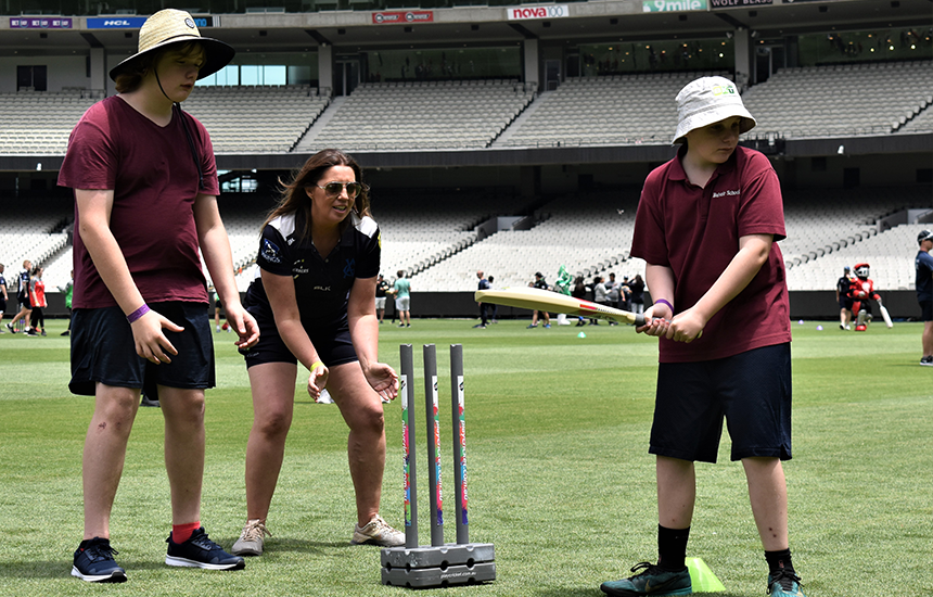 Cricket providing physical, mental and social wellbeing to people with intellectual disability