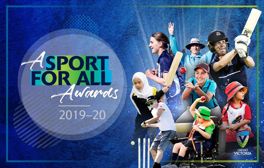 Cricket Victoria congratulates A Sport for All awards winners