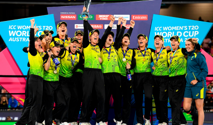 Australia win T20 World Cup in front of record crowd