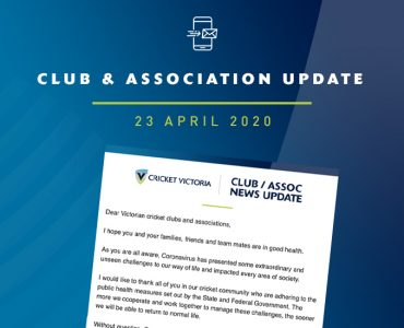 Club & Association News Update – 23 April 2020