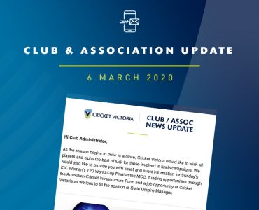 Club & Association News Update – 6 March 2020