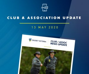 Association Update – Winter Umpiring Classes – 13 May 2020