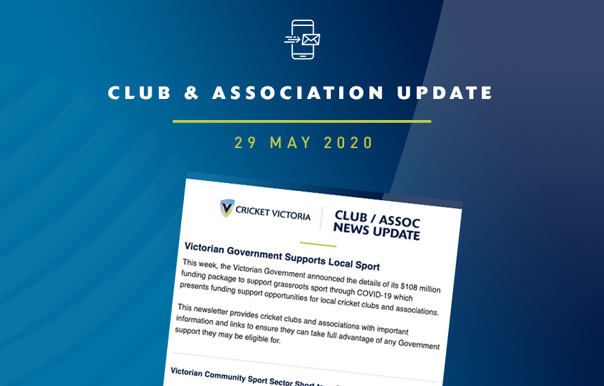 Funding Support for Local Cricket Clubs and Associations