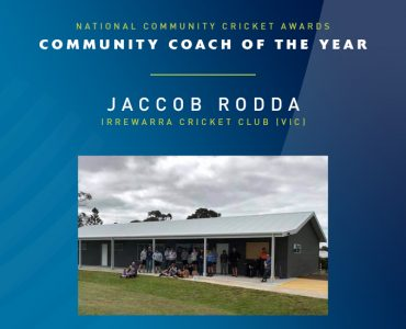 Jaccob Rodda Named Community Coach of the Year