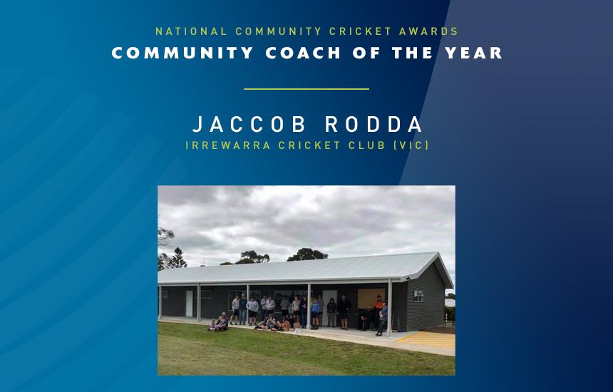 Jaccob Rodda Named Community Coach of the Year
