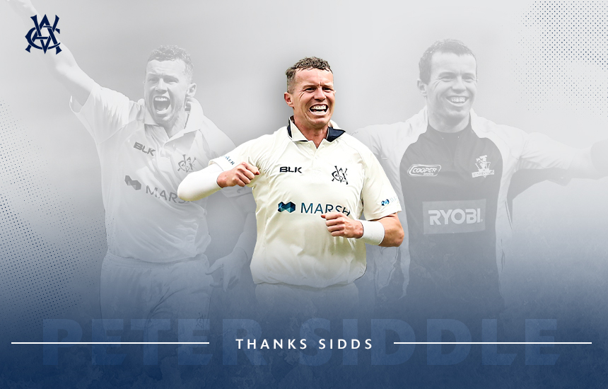 Cricket Victoria congratulates Peter Siddle on Victorian career
