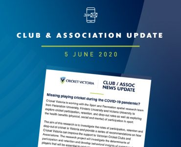 Club & Association News Update – 5 June 2020