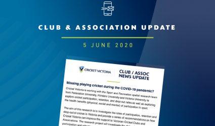Club & Association News Update – 5 June 2020
