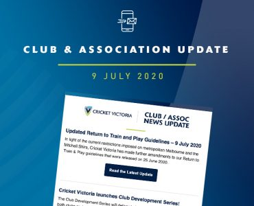 Club & Association News Update – 9 July 2020