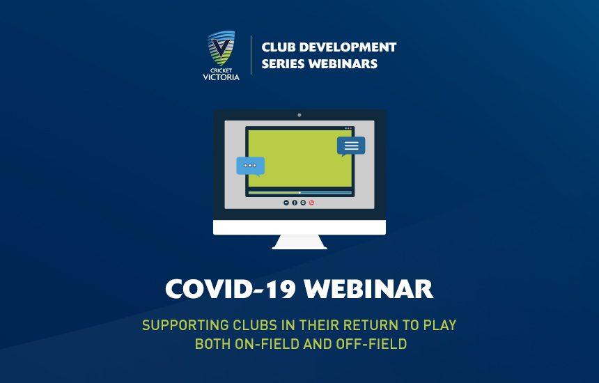Club Development Webinar | COVID-19 Support for Clubs & Associations