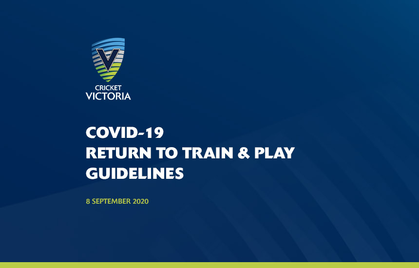 COVID-19 Return To Train & Play Guidelines – 8 September 2020