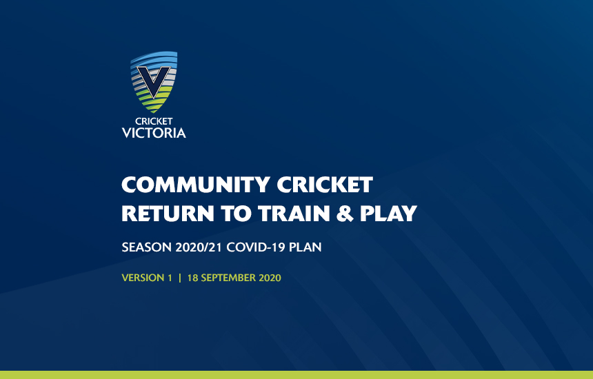 Cricket Victoria release COVID-safe plan for clubs