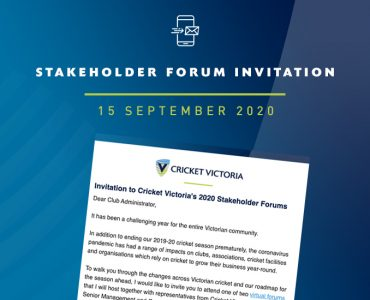 Club & Association Invitation – 2020 Stakeholder Forums