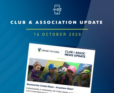 Club & Association News Update – 16 October 2020