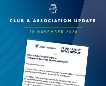 Club & Association News Update – 25 November 2020