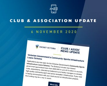 Club & Association News Update – 6 November 2020
