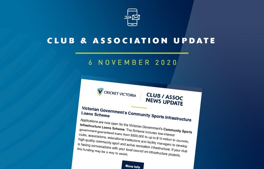 Club & Association News Update – 6 November 2020