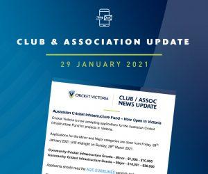 Club & Association News Update – ACIF Launch – 29 January 2021