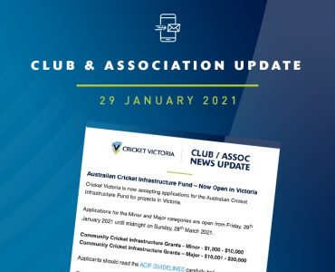 Club & Association News Update – ACIF Launch – 29 January 2021