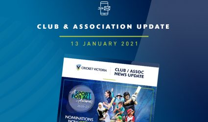 Club & Association News Update – Cricket Victoria Community Cricket Awards – 13 January 2021